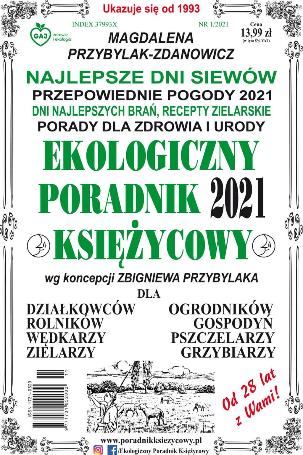 Ekologiczny poradnik księżycowy 2021 - Magdalena Przybylak-Zdanowicz